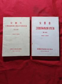1986年 安徽省工程建设标准定额文件汇编(第一期)(第二期)两本合售