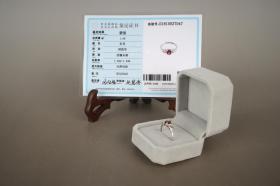 碧玺戒指(925银托、保真、附鉴定证书、支持复检)