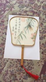 (清)王武  碧树鸣蝉 秋风扇  绢本设色手绘  快递包邮