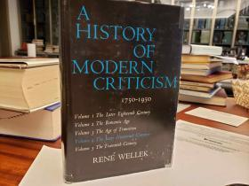 History of Modern Criticism, 1750-1950  Vol. 4. (Later 19th Century 1900-1950)