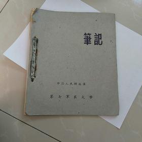 早期。中国人民解放军第七军医大学,笔记本。(未用〉