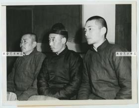 1946年上海远东国际军事法庭美国军事委员会找三名中国人做证老照片,证明日军残忍虐待并杀害三名美国飞行员