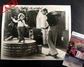 """""""超级童星"""" 秀兰邓波儿 亲笔签名 照片(约8×10英寸) 由三大签名鉴定公司之一JSA提供鉴定"""