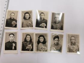 """1952年,凤阳县互助组劳模老照片九种,含毛主席称赞过的合作化带头人""""""""陈学孟"""""""