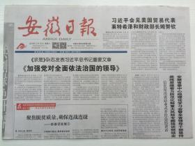 安徽日报2019年2月16日(4版全)