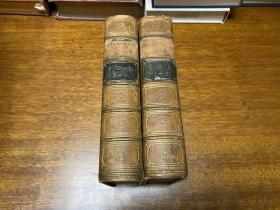 The History of England by Lord Macaulay,volume 1-4.   四卷全装订成两册   纸张好, 1864年老书,真皮精装