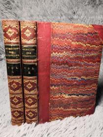 1884年  SELECTIONS FROM THE POETICAL WORKS OF ROBERT BROWNING   半皮装帧  每本均有藏书票  三面书口大理石花纹