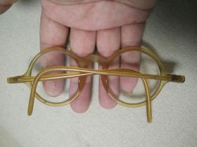 民国时期的老赛璐珞眼镜框水晶镜片民俗古玩收藏品