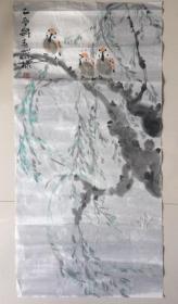 陈葆棣画家,零五年 作品原稿,、北京文史研究馆馆员、保真手绘作品