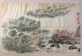 画家吴休作品,保真手绘作品,北京画院副院长,中国美术家协会理事