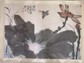 张世简 九四年保真作品,海派画家。附该作品在北京一得阁拍卖公司拍卖记录!现一口价五千出!