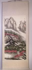 傅欣第二幅作品,戌子年夏(2008)上将傅崇碧之子,军旅画家,北京军区联勤部师级干部,作品保真