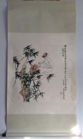 王明明,八六年作品,原装原裱,此类藏品接触的少,识者得