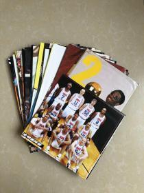 篮球 NBA著名球星高清海报(67张不重复合售)尺寸不一,姚明,科比,麦迪,乔丹,奥尼尔等各站队NBA球星