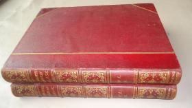 【特价】1881年Illustrated British Ballads Old & New《绘本英伦歌谣录》珍贵1版1印 大开本摩洛哥羊皮装帧2册全 大量精美版画插图 品相上佳