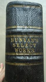 1867年JOHN BUNYAN - PILGRIM'S PROGRESS  约翰•班扬《天-路-历-程》3/4摩洛哥羊皮装帧  对开本巨册  天量珍贵原品手工套色石版画(含:丰盛恩惠 / 圣战)