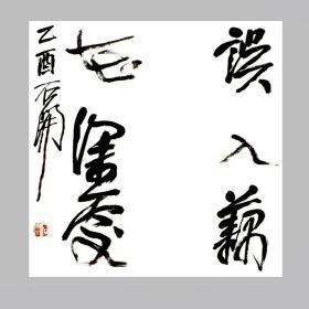 石开书法字画误入藕花