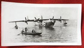 早期 水轰-5式水上飞机 原版老照片一枚