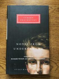 Notes from underground 地下室手记 Fyodor Dostoevsky 陀思妥耶夫斯基 Everyman's Library 人人文库 全网最低价包邮(人人文库全场2件9.5折,3件9折)