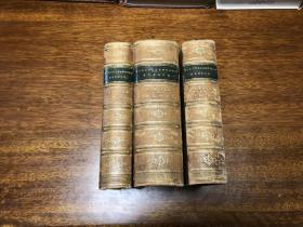 Critical and miscellaneous essays,   1872年老书,四角以及书脊真皮包裹 英国著名历史学家, 当代最重要的评论家托马斯·卡莱尔Thomas Carlyle 评论与杂文集     七卷全 分三册装订 纸张好,