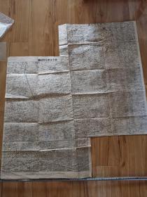 民国时期 2开石印 新京及奉化附近地图2张2开图拼接