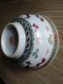 景德镇瓷碗(二龙戏珠)