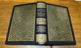 Adventures of  Sherlock Holmes  真皮精装 , Easton 出版, 书口 三面刷金(  22k黄金) , 能保存数百年的存档级别的无酸纸