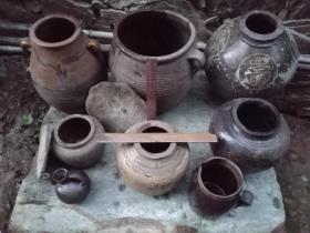 古旧土陶罐
