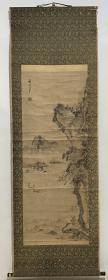 日本回流字画 原装旧裱  600号    谷文晁山水画