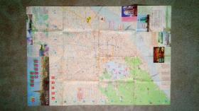 旧地图-杭州商务交通旅游图(1998年4月改版印)2开8品