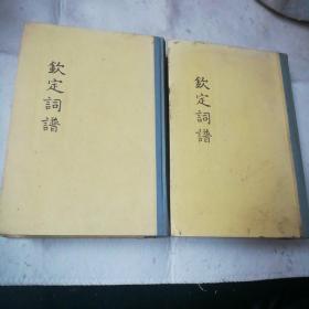 钦定词谱(三,四两册)
