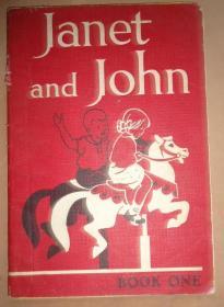 1952年Janet and John 儿童文学绘本《珍妮特与约翰》珍贵版本 绝美彩色插图