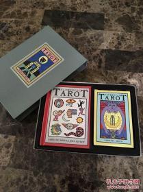 1988年出版《塔罗牌:The Elemental Tarot 》副及附带的说明小册子,大量图片,精装