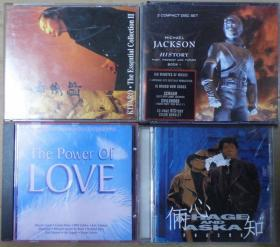 MICHAEL JACKSON CHAGE AND ASKA THE POWER OF LOVE 喜多郎  旧版 港版 原版 绝版 CD
