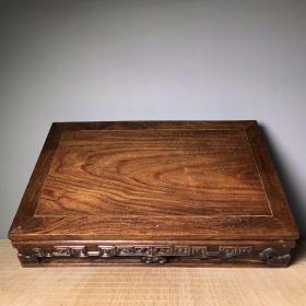 收藏花梨木素面案子客厅桌面家居摆件长44厘米 宽27厘米