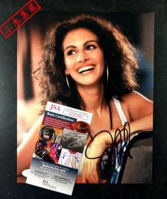 """""""好莱坞一姐"""" 茱莉亚罗伯茨 签名《风月俏佳人》剧照 (约8×10英寸) 由三大签名鉴定公司之一JSA鉴定"""