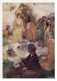 【补图】1909年GILBERT Savoy Operas  苏格兰水彩画之王罗素•弗林特绘本《萨伏伊戏剧集》极珍贵初版本 32张精美彩色插图 大开本 品相佳