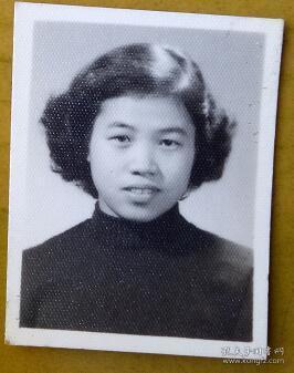 老照片:美女,烫发。【 三线——皖南基地——上海人那些事、那些人系列】