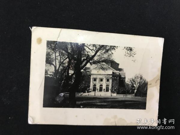 民国原版老照片《清华大学大礼堂》保真