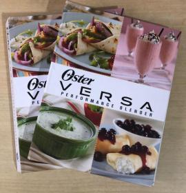 OSTER VERSA PERFORMANCE BLENDER 搅拌机食谱 西餐英文美食菜谱 【精装本 128页】