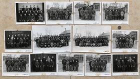 文革时期 北京东方红汽车制造厂(北红汽)先进安全、生产小组等罕见合影老照片13枚