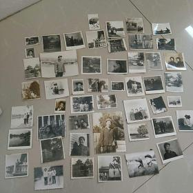 文革,照片,孪生姐妹,一组五十多张合售。同一对孪生姐妹的成长照片