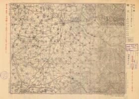 民国1943年《榆次县老地图》图题为《榆次县》(原图高清复制)(民国榆次老地图,榆次地图、榆次县地图、榆次市老地图、榆次市地图,图中包含太原县、太谷县、徐沟县一部分,太原徐沟太谷老地图)日军军用地图,十万分之一比例尺,北支那方面军参谋本部测绘,村庄、道路、寺庙、河流等绘制十分详细。此图种稀少。榆次地理地名历史变迁重要史料。裱框后,风貌佳。