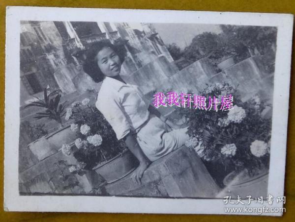 老照片:美女——苗娟,清纯型,1953年,有背题。【 三线——皖南基地——上海人那些事、那些人系列】