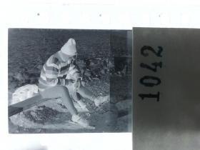 纪实摄影底片1张 童趣 滑冰刀、冰车、冰滑梯系列67