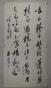 武元子 1953年1月1日生于北京。1979年到中央工艺美术学院l图书馆工作 。现为中国书法家协会会员、清华大学美术学院培训中心国际部书法教授,北京教委老年大学特聘书法教师。 八岁起在父亲指导下学习书法,曾得到萧劳、陈叔亮等诸位前辈指点。部分作品被毛主席纪念堂、中央文史馆、中央国家机关等单位或个人及国外友人收藏。有书学论文辑入《中青年书法家谈书法》一书。其个人作品集已由西泠印社出版。