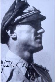 德国空军战斗机部队第三王牌 西德空军总司令京特·拉尔签名照