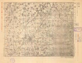 民国1943年《平遥县老地图》图题为《平遥县》(原图高清复制)(民国晋中平遥老地图,平遥地图、平遥县地图、图中包含祁县,祁县老地图、祁县地图)日军军用地图,十万分之一比例尺,北支那方面军参谋本部测绘,村庄、道路、寺庙、河流等绘制十分详细。此图种稀少。平遥、祁县地理地名历史变迁重要史料。裱框后,风貌佳。
