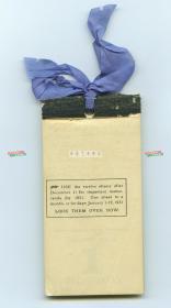 1930年1月1日到1930年3月11日日历月份牌一件,每页都有其当时拥有者记录的当日事项文字。英文