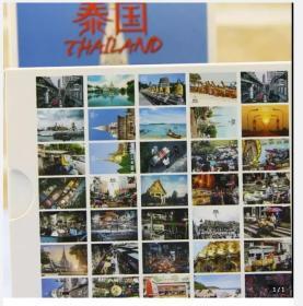 盒装【全套36张不重复大全套全新正品】《泰国旅游旅行》风景风光摄影明信片36枚空白明信片大全套邮品 图案以最新版本为准